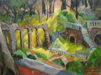 Mrs. Crowninshield\'s Forgotten Garden,16x20,oil ,2010