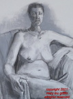 Figure seated-Sarah, charcoal and pastel, 18x24.06-2014