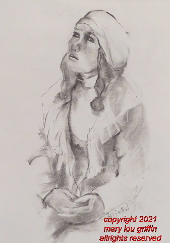 Looking Up, Charcoal,16x20-3-2014.JPG