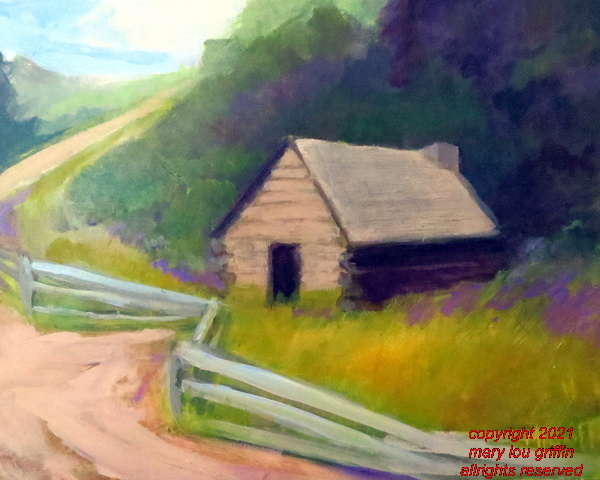 Encampment Hut,VFNP-14x11-acrylic on panel-6-2015 .JPG