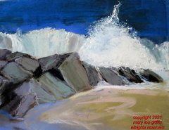 SOLD Breakers- pastel 10x7.50-10-2015