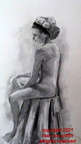 Grace-Figure with Turban-soft charcoal, 16x20-5-2016