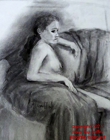 Figure-Grace seated on sofa-charcoal-16x20-10-2016 002.JPG