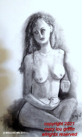 Emily seated holding apple-14x22-soft charcoal-6-2017 001 (3).JPG